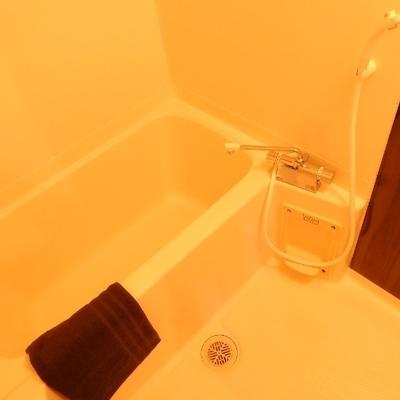 シンプルな浴室※別部屋の写真です