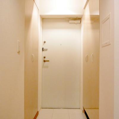 扉に向かって右手は収納スペース!