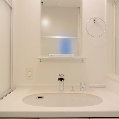 独立洗面台は幅が広い!