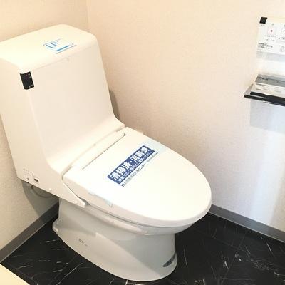 個室じゃないですが。キレイなウォシュレット付きトイレ