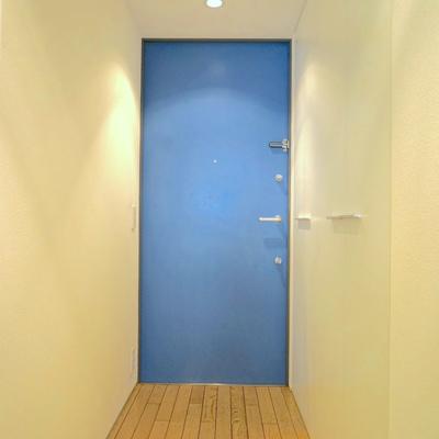 扉は飽きのこないブルー