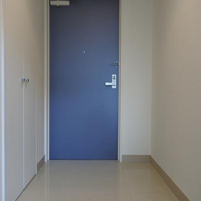 玄関ゆったり。シューズボックスは入れるレベル。
