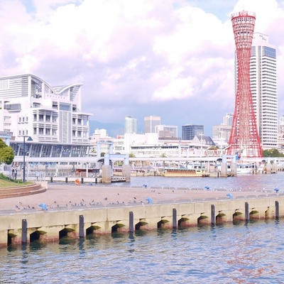 神戸ハーバーランドが私の散歩コース。