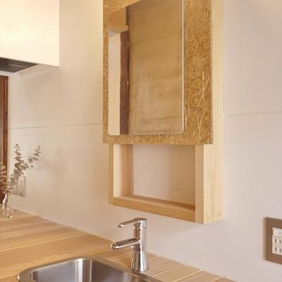 キッチンだけど、シンクが2箇所なので洗面台として使いたい。