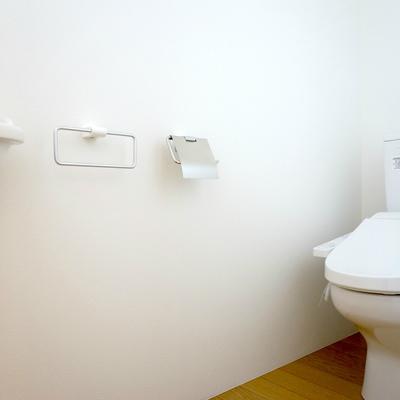 お手洗いは広々でした!手洗いも嬉しいですね