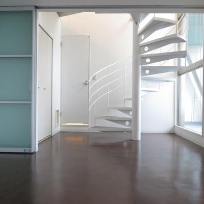 螺旋階段は絵になるわぁ。