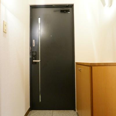 玄関にはお洒落なデザインのライトが