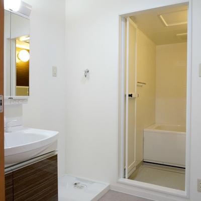 洗面・脱衣スペースは非常に広い!