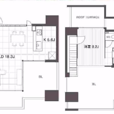 2階のルーフバルコニーの広さは歴代1位でした。