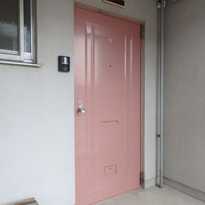 ピンクの扉にキュン★
