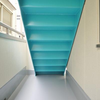 階段したのスペースがバルコニー!