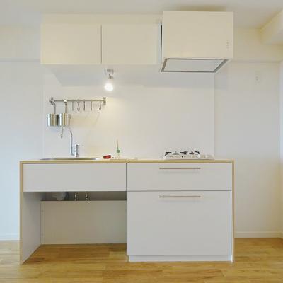 キッチンはインテリアとも相性◎の2口ガス※写真はイメージ