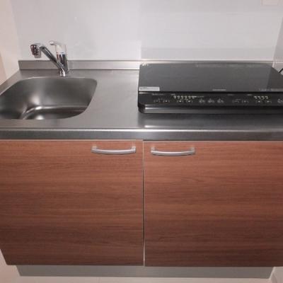 キッチンにはIH2口のコンロが設置されています