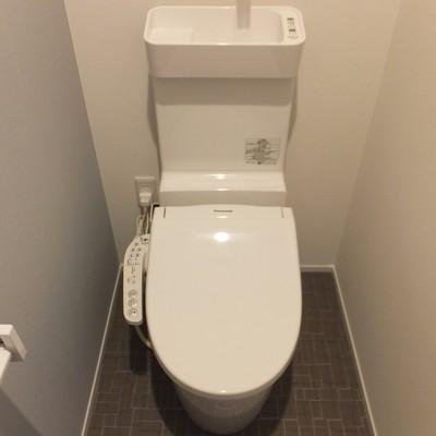 トイレは洗面所の左手に。でもちゃんと個室です!