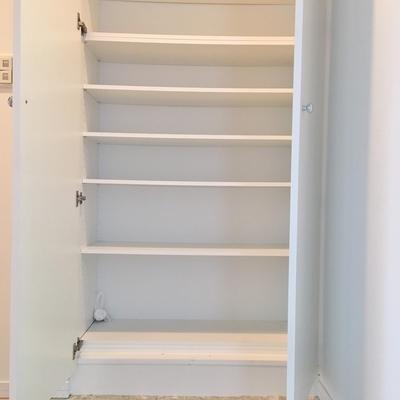 靴箱が大容量!棚の位置も変えることができます!