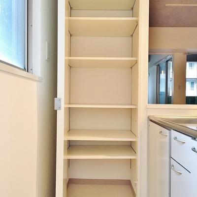 キッチン横の収納。