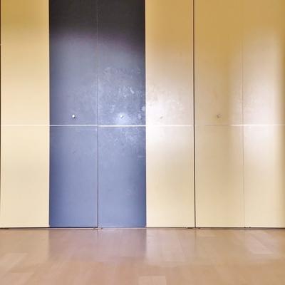 洋室には壁一面のクローゼット。
