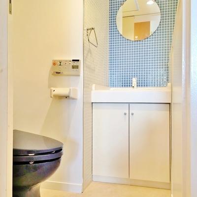 洗面台レベルに立派な手洗い場あり!