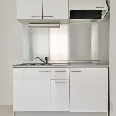 調理スペース、収納広め◎