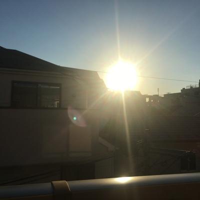 日差しが。。!