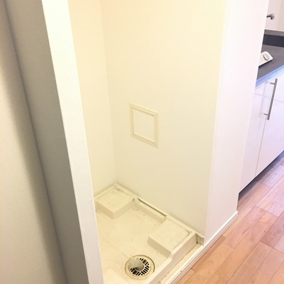 ここに洗濯機置き場。