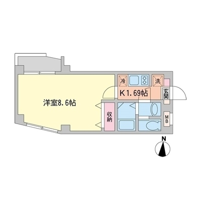 アニコフローラ高円寺 の間取り