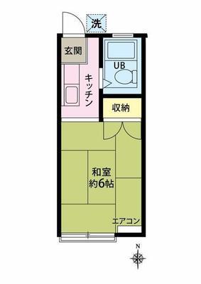 駒沢大学15分アパート の間取り