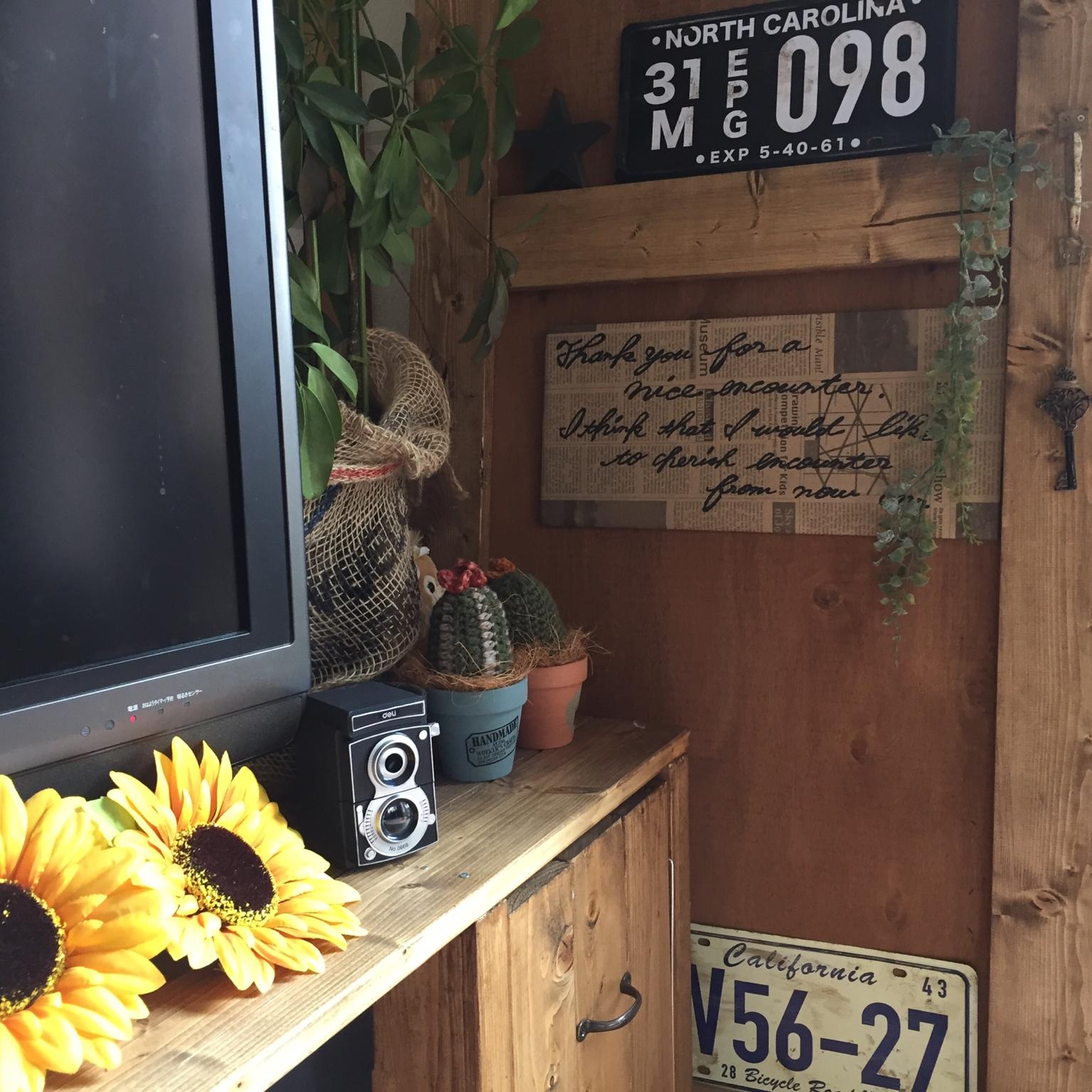 タオル/すきま収納/ダイソー/突っ張り棒で棚/カフェ風/カフェ風インテリア…などに関連する他の写真