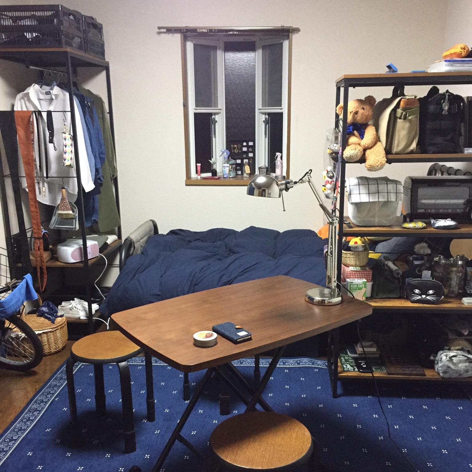 Overview/無印良品/ダイソー/IKEA/100均/一人暮らし/セリア/男前に関連する部屋のインテリア実例