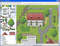 RPG Maker XP map creation screenshot