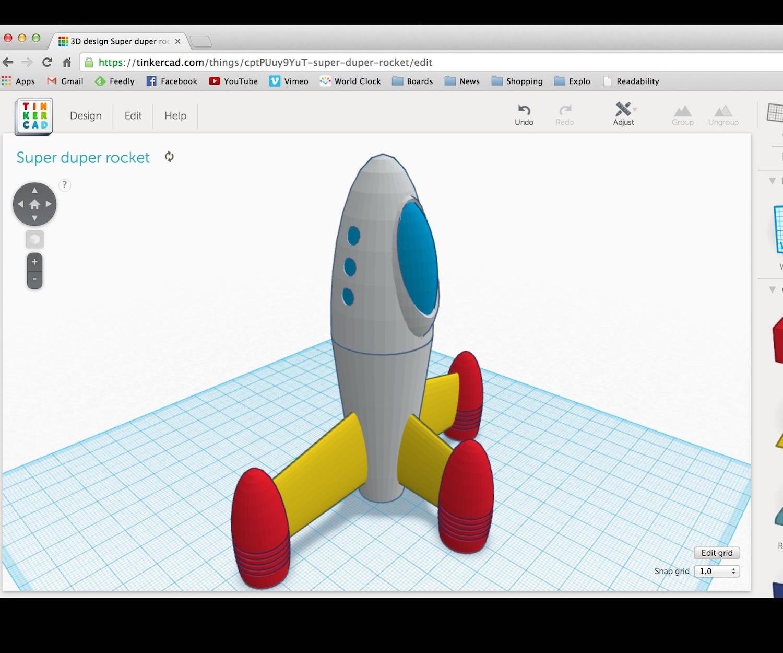 FabKids! Design Your Own: 3D Rocket