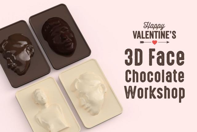 3D自画像風・顔チョコワークショップ