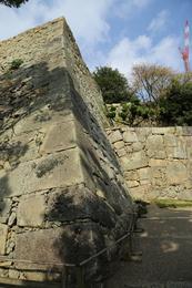 <p>出た!扇の勾配。<br>姫路城二の丸ぬの門手前にある。</p>