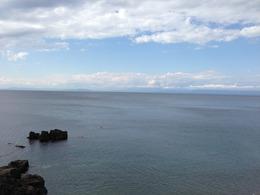【駿河湾】土肥金山の少し北から清水方面を遠望