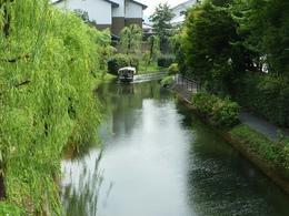 【伏見の水路】坂本龍馬が頻繁に使った寺田屋。 その近くの伏見の水路。