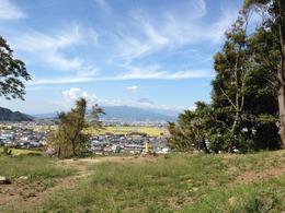 【韮山城】本丸から見た富士山