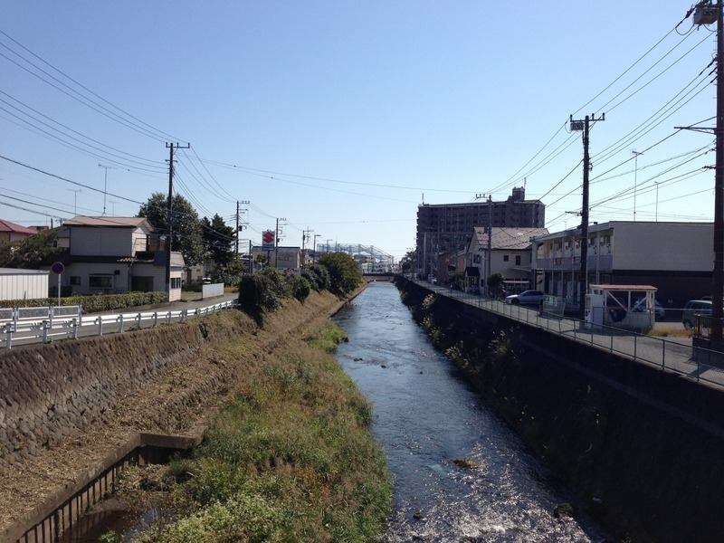 山王川。小田原城総構えの外堀の役割を担った。