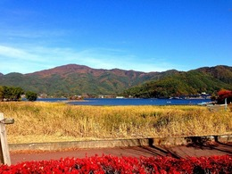 【御坂城】河口湖方面から遠望