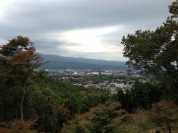 【葛山城】本丸から裾野市方面をみる