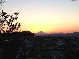 【高幡城】見晴らし台から富士山が見えた。
