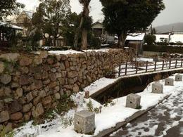 【田辺城】本丸東側の石垣と堀