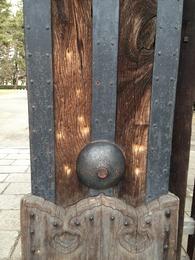 【京都御所】蛤御門の銃弾跡。禁門の変で戦場になった。