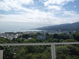 【小田原城】本丸天守望楼から見た西伊豆。