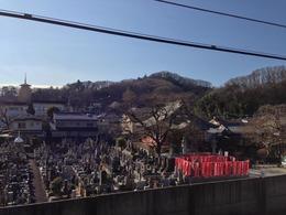【初沢城】高尾駅から見た初沢城。この日は反対側(北側)の八王子城へ。9時45分頃。