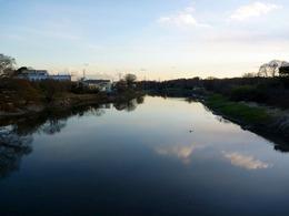 【岩付城】岩槻城の東側を流れる元荒川。戦国時代には荒川の本流だった。