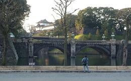 【江戸城】伏見櫓と二重橋。江戸城に残る3つの櫓の1つ。<br><br>伏見櫓は徳川家光の時に、伏見城から移築されたそうだ。<br>また、関東大震災の時も伏見櫓の石垣は崩れなかったという。