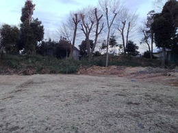 【世田谷城】団地(推定主郭)の東側の土塁。遺構は分散されながら、案外残っている。