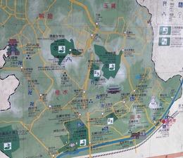 【玉縄城】大船駅前のエリアマップ。まずは玉縄城周辺のマップを把握しておきたい。