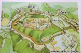 【玉縄城】太鼓櫓跡の前にあった案内板。分かりやすい。