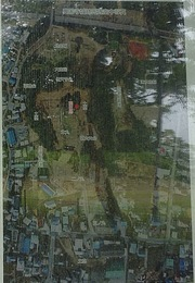 【興国寺城】現地案内板。三の丸はほぼ市街地になっているのが分かる。